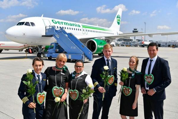 Verabschiedung des Germania-Erstflugs nach Beirut (© MUC Airport)
