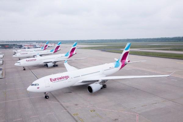 Airbus A330 der Eurowings am Flughafen Köln-Bonn (© Eurowings)