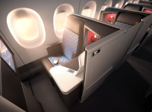 Neue Business-Class-Suiten im A350 (© Delta)