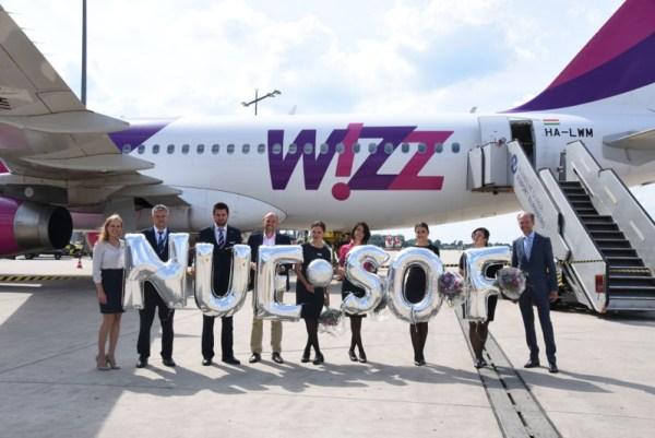 Eröffnung der Verbindung Nürnberg-Sofia durch Wizz Air (© NUE Airport)