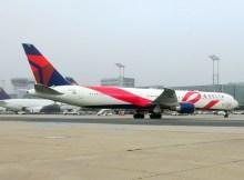 Pink Airplane Boeing 767-400 von Delta (© FRA Airport)