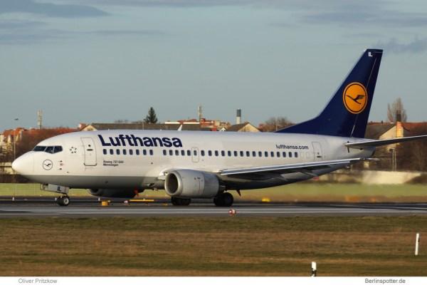 Boeing 737-500 der Lufthansa (© O. Pritzkow)