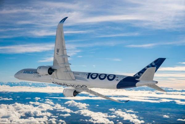 Erstflug des Airbus A350-1000 (© Airbus)