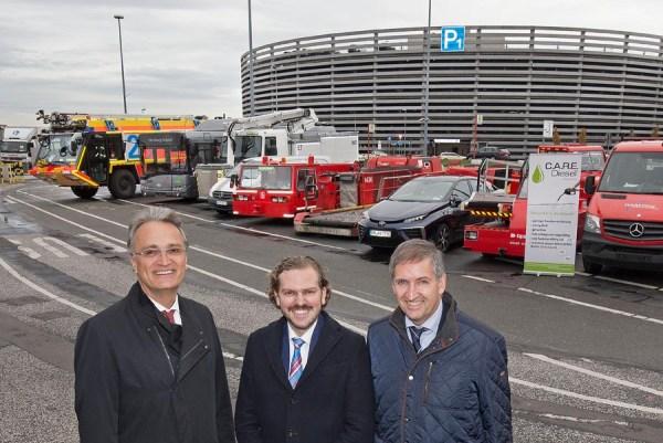 CARE Diesel-Präsentation am Flughafen Hamburg