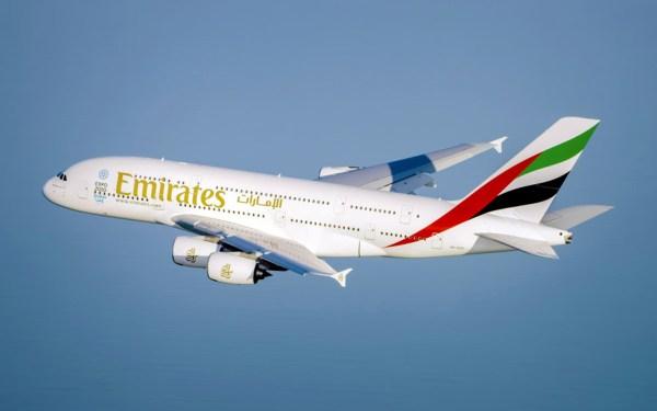 Airbus A380 im Flug (© Emirates)