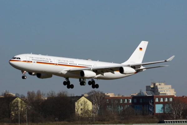 Airbus A340-300 der Flugbereitschaft (© O. Pritzkow)