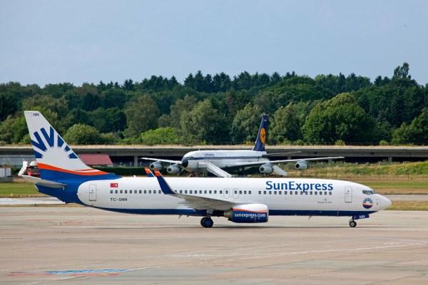 SunExpress am Flughafen Hamburg (© HAM Airport)