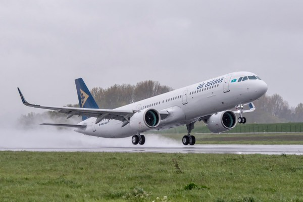 Airbus A321neo der Air Astana (© Air Astana)