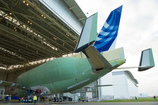 Der erste Beluga XL ist strukturell fertig (© Airbus)