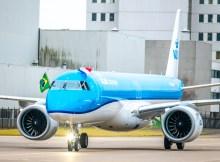 Ankunft des ersten Embraer 195-E2 in Amsterdam (Foto: KLM)