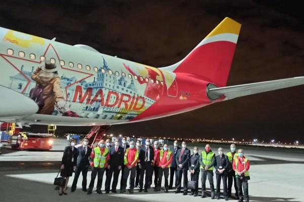 Erstflug Guayaquil - Madrid am 4.5.2021 (Foto: Iberia)