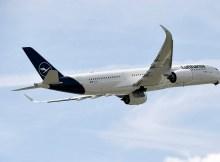 Lufthansa Airbus A350 im Steigflug (Foto: Lufthansa)