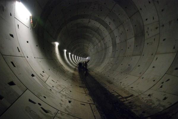 Rohbaufertige Tunnelröhre – allerdings in Leipzig (Foto: Prolineserver CC-BY SA 3.0)
