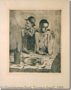 Picasso, Le Repas frugal, 1904_online