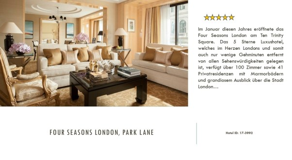 Four Seasons London, park lane