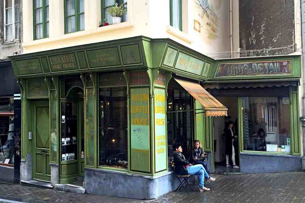 Aksum Coffee House, Brussels, entrance