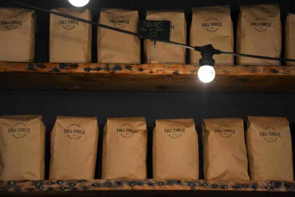 Shoe Lane Coffee's retails shelf