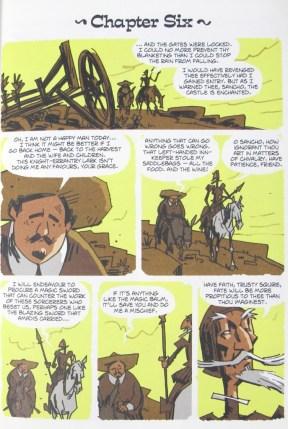 Don Quixote's adaptation into a graphic novel by Rob Davis (2016.91556)