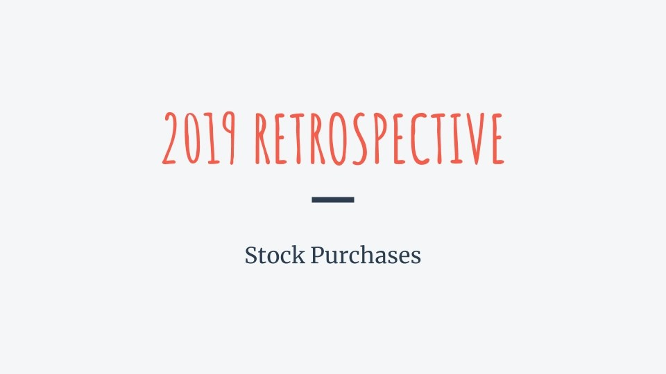 Read more about the article 2019 retrospective about my stock purchases