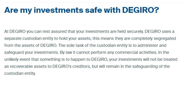 Is DEGIRO safe to hold my investments?