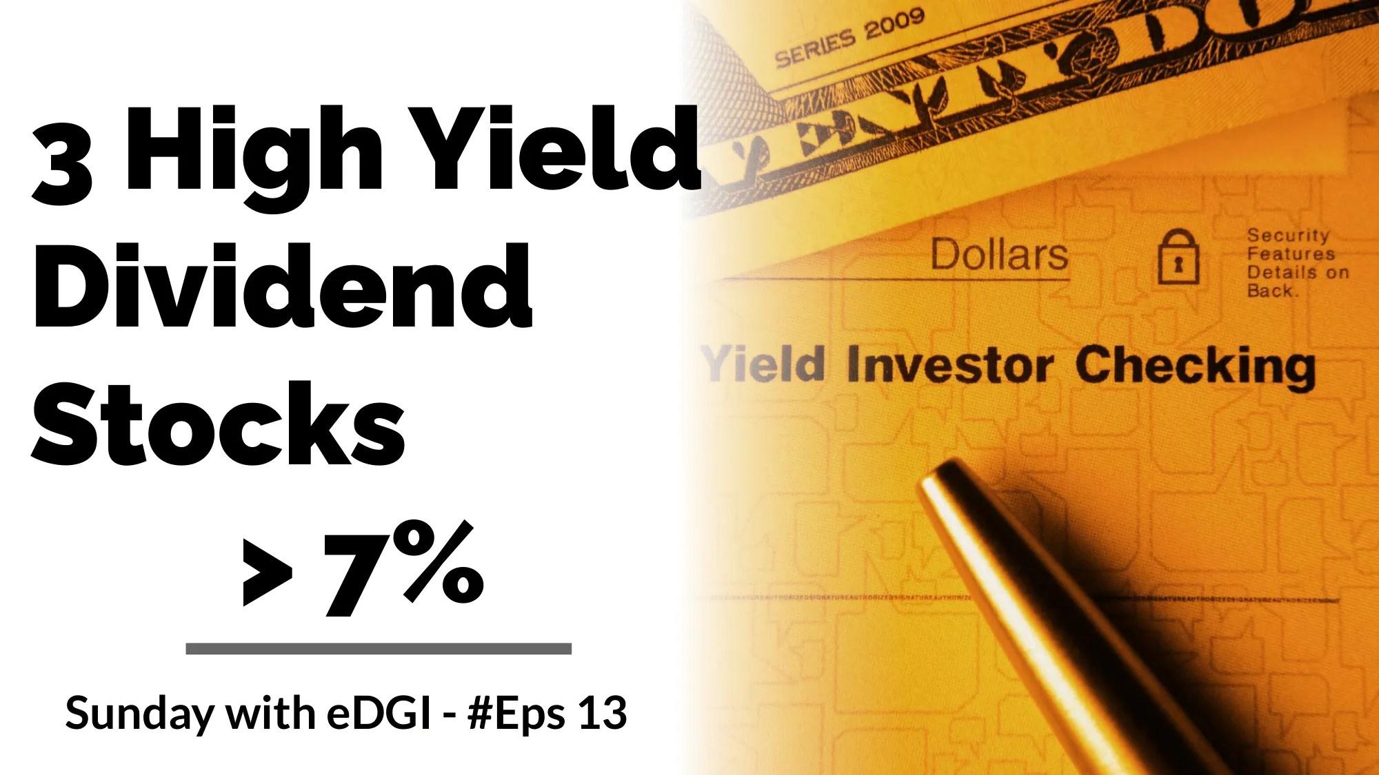3 High Yield Stocks