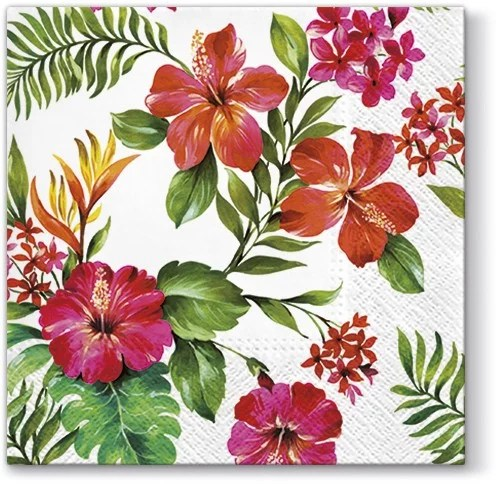 Hawaiian Flowers Luncheon Napkins European Excellency
