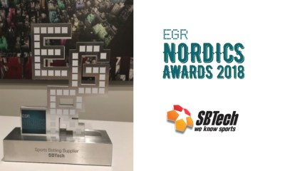 SBTech scores Best Sports Betting Supplier hat trick at EGR Nordics Awards 2018