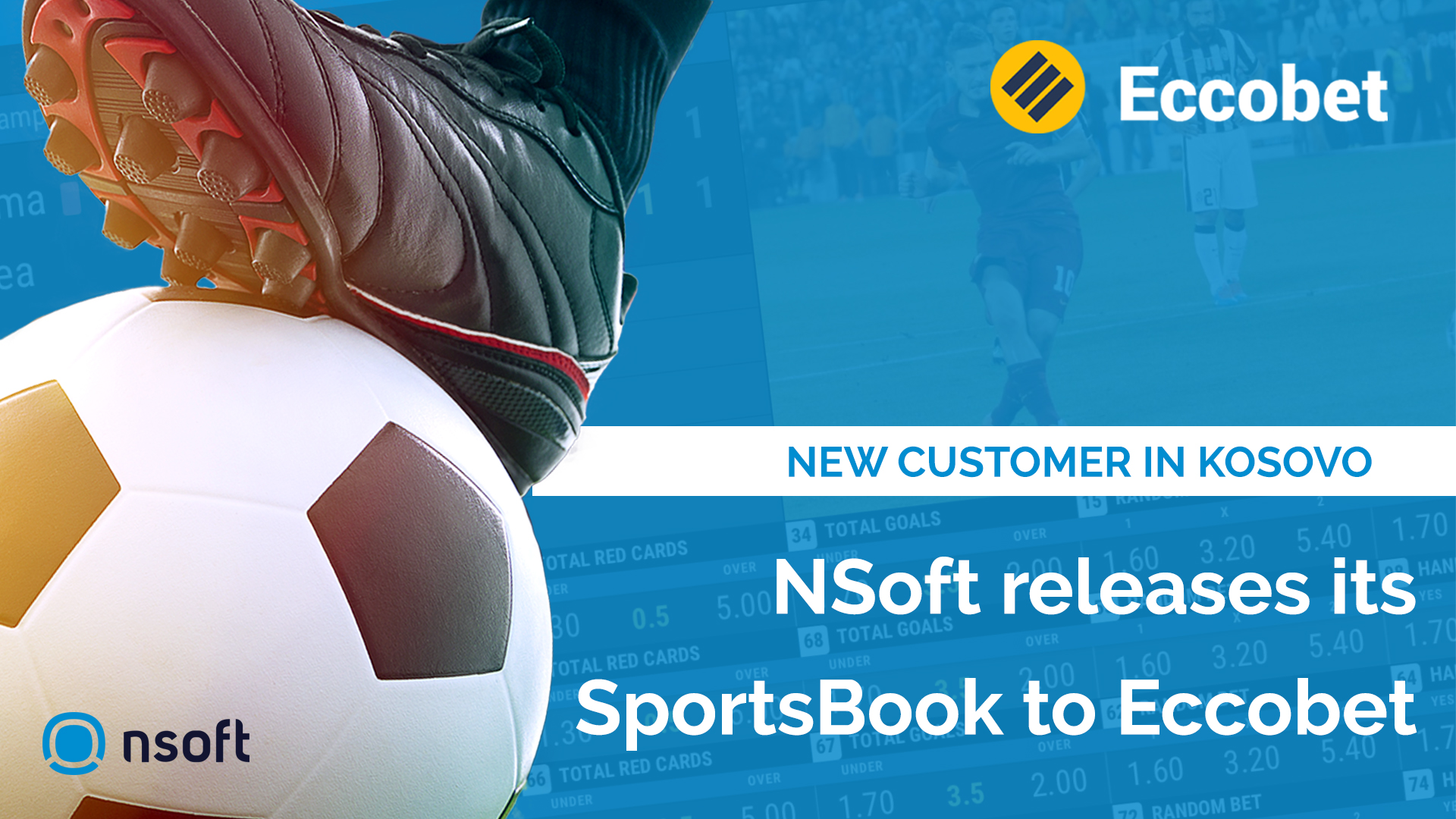 NSoft releases its SportsBook to a new customer in Kosovo