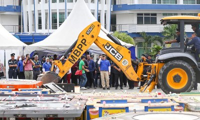 Police destroy 3197 illegal gambling machines in George Town