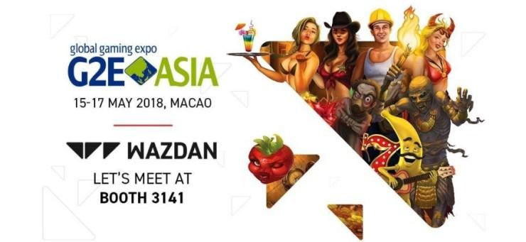 : Meet Wazdan at stand 3141 during G2E Asia 2018