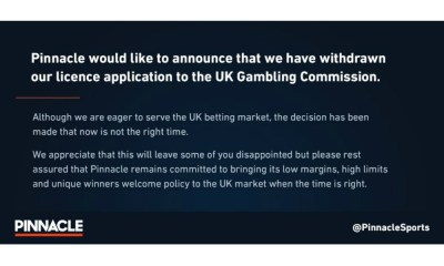 Pinnacle withdraws from UKGC application process