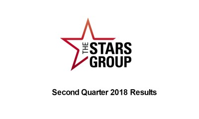 The Stars Group Reports Quarter 2 2018 Results