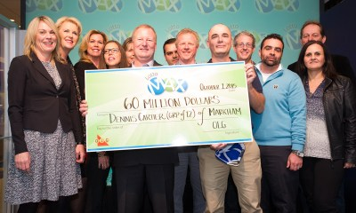 LOTTO MAX is heating up! Estimated $60 million LOTTO MAX jackpot plus an estimated 16 MAXMILLIONS up for grabs