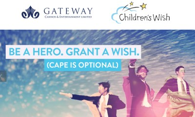 Gateway Casinos Signs on as a National Partner with Children's Wish Foundation to Grant the Wishes of Sick Kids