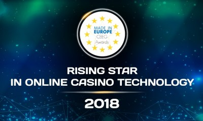 TOM HORN GAMING NAMED THE RISING STAR IN ONLINE CASINO TECHNOLOGY 2018 AT CEEG AWARDS