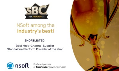 NSoft is shortlisted to SBC Awards 2018