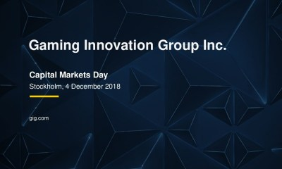 Gaming Innovation Group Capital Markets Day - Summary of presentation