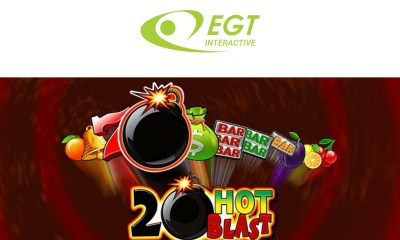 EGT Interactive with the new videoslot 20 Hot Blast