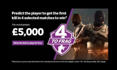 Esports bettors set new £5,000 target with Betway's 4-to-frag
