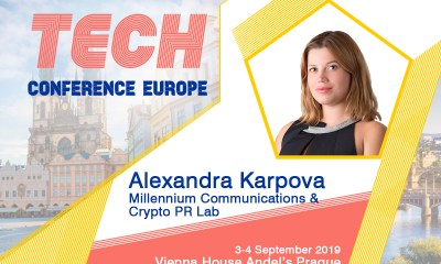 The Growing Use of Blockchain by Start-ups and SMEs with Alexandra Karpova (Co-Founder & CEO at Millennium Communications) at TCE2019 Prague