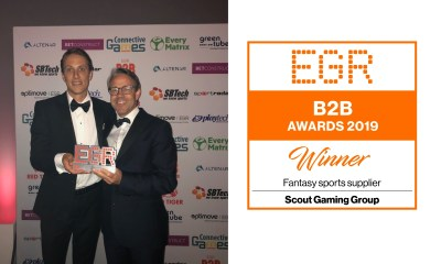 Scout Gaming wins EGR B2B award for the second year in a row