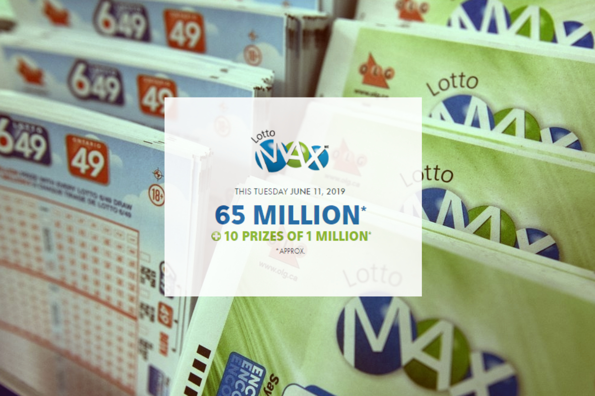 Lotto Max to hit a record-breaking jackpot! - The June 11 draw will offer a record jackpot of $65 million and approximately 10 Maxmillions