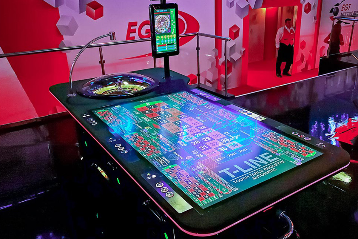 A new Luxury Touch Table Roulette installation, at Red Sevens Romania