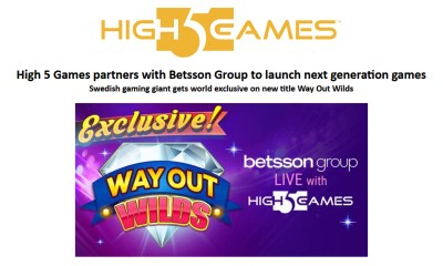 High 5 Games partners with Betsson Group to launch next generation games