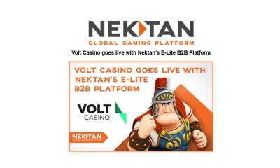 Volt Casino goes live with Nektan's E-Lite B2B Platform