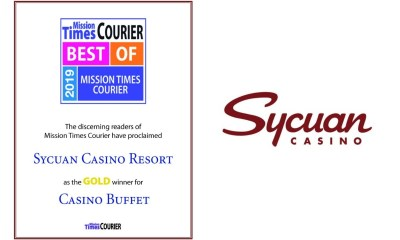 Sycuan Awarded Best Casino Buffet from 2019 Best of Mission Times Courier
