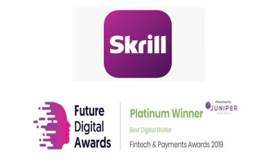 Skrill named Best Digital Wallet 2019 by Juniper Research