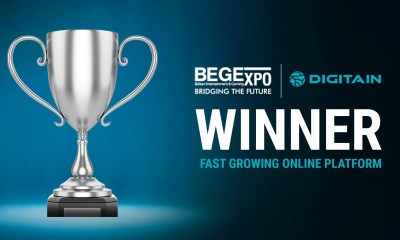 Digitain wins Fastest Growing Platform of the Year at the BEGE Awards 2019