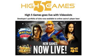 High 5 Games goes live with Videoslots
