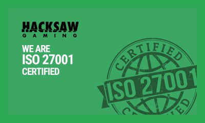 Hacksaw Gaming has been ISO certified!